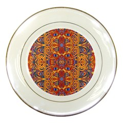 Oriental Watercolor Ornaments Kaleidoscope Mosaic Porcelain Plates