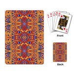 Oriental Watercolor Ornaments Kaleidoscope Mosaic Playing Card Back