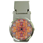 Oriental Watercolor Ornaments Kaleidoscope Mosaic Money Clip Watches Front