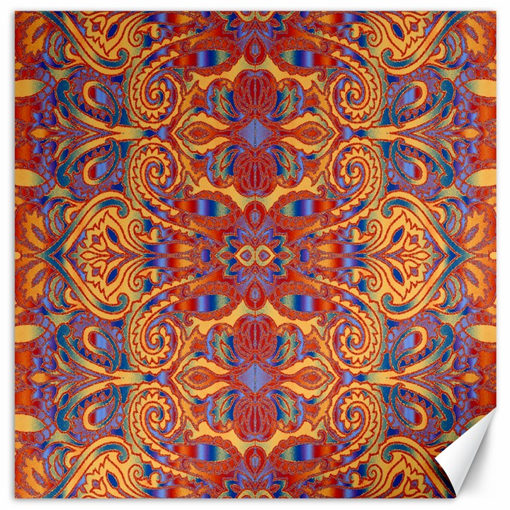 Oriental Watercolor Ornaments Kaleidoscope Mosaic Canvas 20  x 20