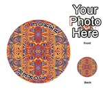 Oriental Watercolor Ornaments Kaleidoscope Mosaic Playing Cards 54 (Round)  Front - Joker1