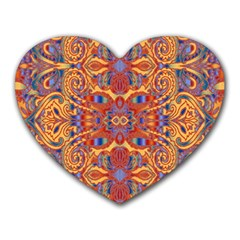 Oriental Watercolor Ornaments Kaleidoscope Mosaic Heart Mousepads