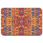 Oriental Watercolor Ornaments Kaleidoscope Mosaic Large Doormat  30 x20 Door Mat - 1