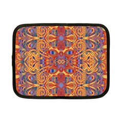 Oriental Watercolor Ornaments Kaleidoscope Mosaic Netbook Case (small)
