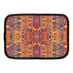 Oriental Watercolor Ornaments Kaleidoscope Mosaic Netbook Case (Medium)  Front
