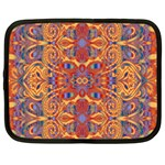Oriental Watercolor Ornaments Kaleidoscope Mosaic Netbook Case (Large) Front