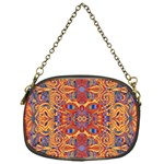 Oriental Watercolor Ornaments Kaleidoscope Mosaic Chain Purses (One Side)  Front
