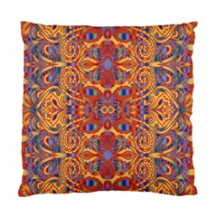 Oriental Watercolor Ornaments Kaleidoscope Mosaic Standard Cushion Case (one Side)