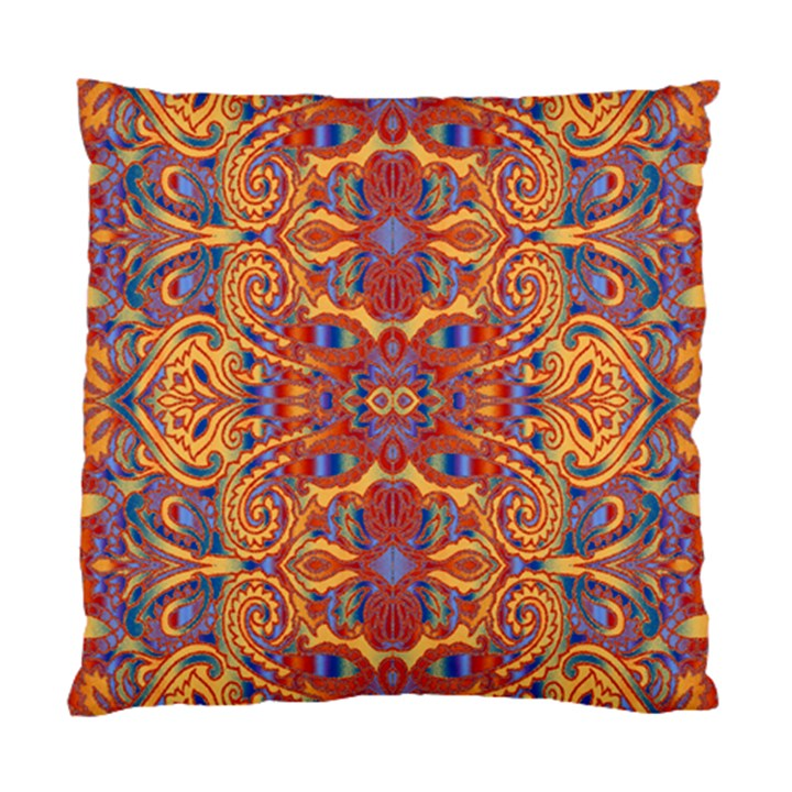 Oriental Watercolor Ornaments Kaleidoscope Mosaic Standard Cushion Case (Two Sides)