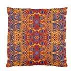 Oriental Watercolor Ornaments Kaleidoscope Mosaic Standard Cushion Case (Two Sides) Back