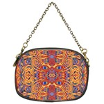 Oriental Watercolor Ornaments Kaleidoscope Mosaic Chain Purses (Two Sides)  Back