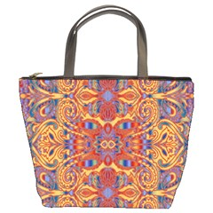 Oriental Watercolor Ornaments Kaleidoscope Mosaic Bucket Bags