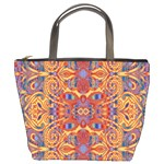 Oriental Watercolor Ornaments Kaleidoscope Mosaic Bucket Bags Front