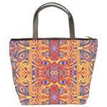 Oriental Watercolor Ornaments Kaleidoscope Mosaic Bucket Bags Back