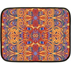Oriental Watercolor Ornaments Kaleidoscope Mosaic Fleece Blanket (mini)