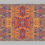 Oriental Watercolor Ornaments Kaleidoscope Mosaic Canvas 14  x 11  14  x 11  x 0.875  Stretched Canvas