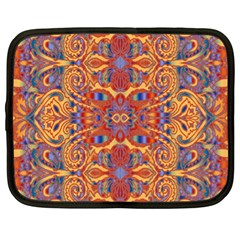 Oriental Watercolor Ornaments Kaleidoscope Mosaic Netbook Case (xl)