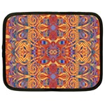Oriental Watercolor Ornaments Kaleidoscope Mosaic Netbook Case (XXL)  Front