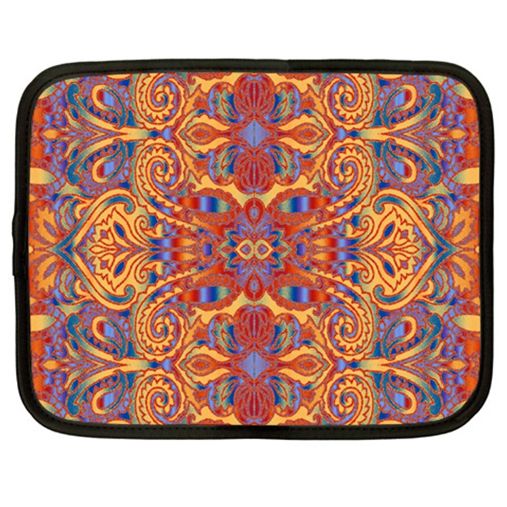 Oriental Watercolor Ornaments Kaleidoscope Mosaic Netbook Case (XXL)