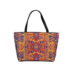 Oriental Watercolor Ornaments Kaleidoscope Mosaic Shoulder Handbags