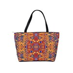 Oriental Watercolor Ornaments Kaleidoscope Mosaic Shoulder Handbags Back