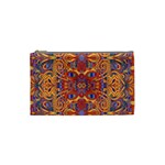 Oriental Watercolor Ornaments Kaleidoscope Mosaic Cosmetic Bag (Small)  Front
