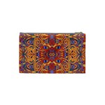 Oriental Watercolor Ornaments Kaleidoscope Mosaic Cosmetic Bag (Small)  Back