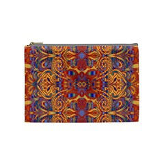 Oriental Watercolor Ornaments Kaleidoscope Mosaic Cosmetic Bag (medium)