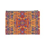 Oriental Watercolor Ornaments Kaleidoscope Mosaic Cosmetic Bag (Large)  Back
