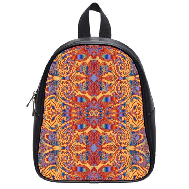 Oriental Watercolor Ornaments Kaleidoscope Mosaic School Bags (Small)