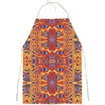 Oriental Watercolor Ornaments Kaleidoscope Mosaic Full Print Aprons Front
