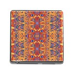 Oriental Watercolor Ornaments Kaleidoscope Mosaic Memory Card Reader (Square) Front