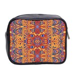 Oriental Watercolor Ornaments Kaleidoscope Mosaic Mini Toiletries Bag 2-Side Back