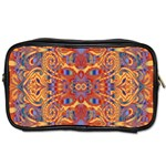 Oriental Watercolor Ornaments Kaleidoscope Mosaic Toiletries Bags Front