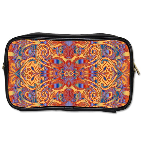 Oriental Watercolor Ornaments Kaleidoscope Mosaic Toiletries Bags 2-Side