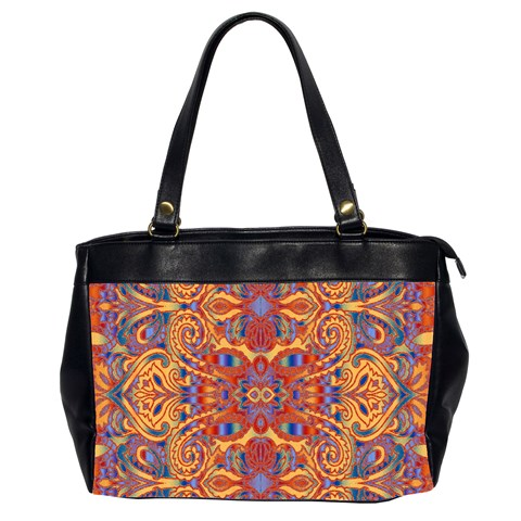 Oriental Watercolor Ornaments Kaleidoscope Mosaic Office Handbags (2 Sides)