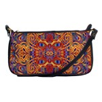 Oriental Watercolor Ornaments Kaleidoscope Mosaic Shoulder Clutch Bags Front