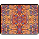Oriental Watercolor Ornaments Kaleidoscope Mosaic Fleece Blanket (Medium)  60 x50 Blanket Front