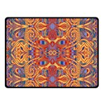 Oriental Watercolor Ornaments Kaleidoscope Mosaic Fleece Blanket (Small) 50 x40 Blanket Front