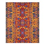 Oriental Watercolor Ornaments Kaleidoscope Mosaic Shower Curtain 60  x 72  (Medium)  54.25 x65.71 Curtain
