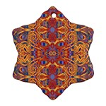 Oriental Watercolor Ornaments Kaleidoscope Mosaic Ornament (Snowflake)  Front