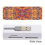 Oriental Watercolor Ornaments Kaleidoscope Mosaic Memory Card Reader (Stick)  Front