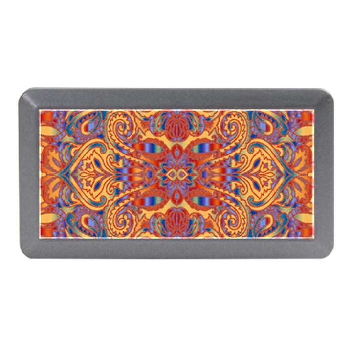 Oriental Watercolor Ornaments Kaleidoscope Mosaic Memory Card Reader (Mini)