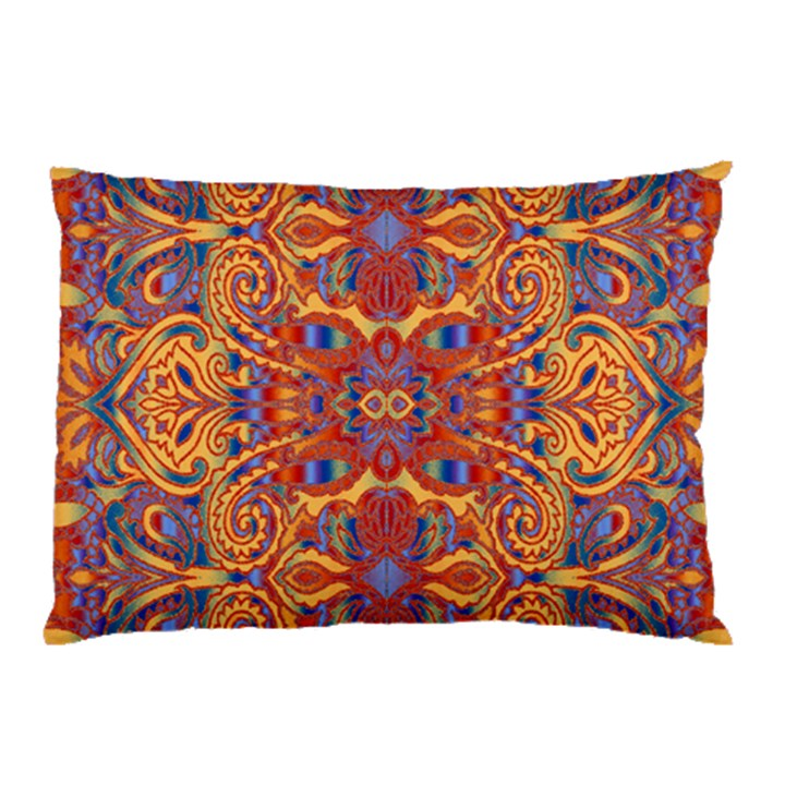 Oriental Watercolor Ornaments Kaleidoscope Mosaic Pillow Case (Two Sides)