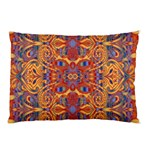 Oriental Watercolor Ornaments Kaleidoscope Mosaic Pillow Case (Two Sides) Back