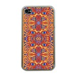 Oriental Watercolor Ornaments Kaleidoscope Mosaic Apple iPhone 4 Case (Clear) Front