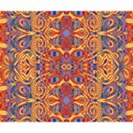 Oriental Watercolor Ornaments Kaleidoscope Mosaic Deluxe Canvas 14  x 11  14  x 11  x 1.5  Stretched Canvas