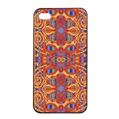 Oriental Watercolor Ornaments Kaleidoscope Mosaic Apple iPhone 4/4s Seamless Case (Black)