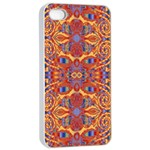 Oriental Watercolor Ornaments Kaleidoscope Mosaic Apple iPhone 4/4s Seamless Case (White) Front