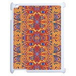 Oriental Watercolor Ornaments Kaleidoscope Mosaic Apple iPad 2 Case (White) Front